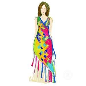 woven Maypole dress