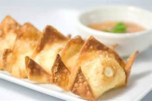 yummy fried won tons