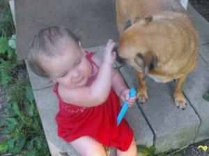 get off me dog!