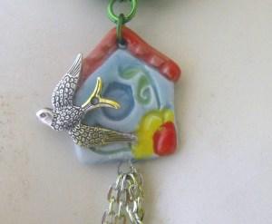 Jennifer Jangles Birdhouse charm