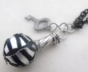 Black & Silver Doorknob Necklace