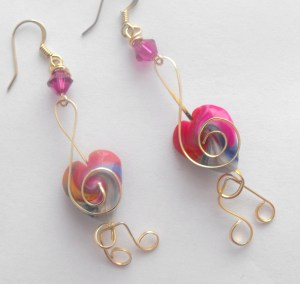 Earrings for auction.
