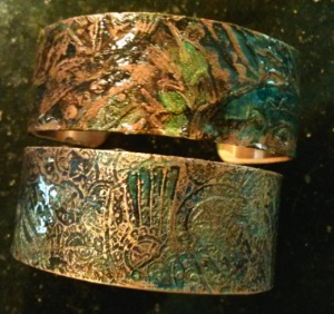 etched metal bracelets