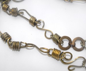 antique brass links