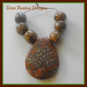 Terra Rustica beads and pendant